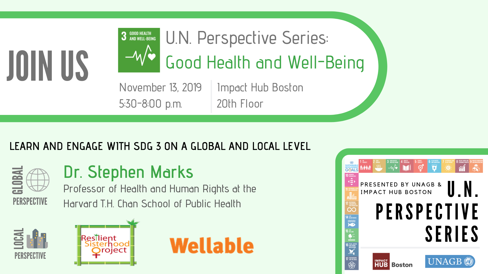 UN Perspective Series: Good Health and Well-Being